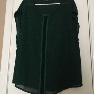 Green Rose & Olive Blouse Size 3x